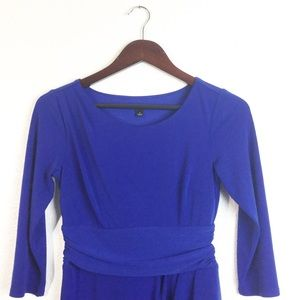 Ann Taylor Blue Crepe Stretch Dress